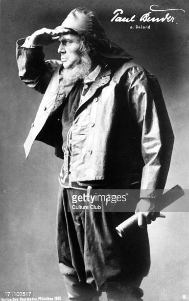 Paul Bender German bass as Daland in Richard Wagner 's opera 'The Flying Dutchman' Paul Bender 18751972 Richard Wagner German composer 22 May 1813 13...