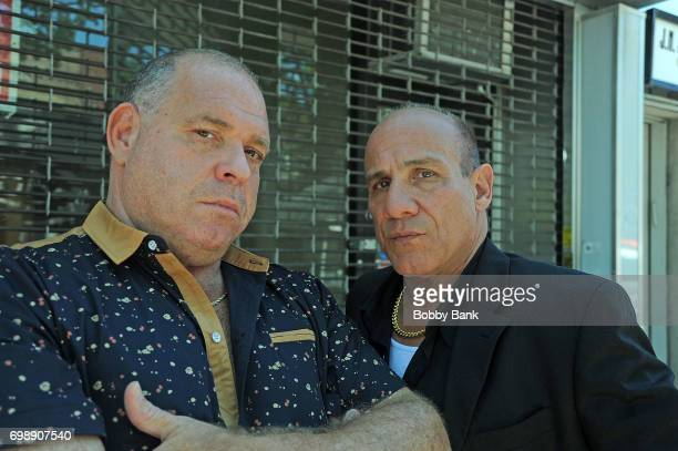 Paul BenVictor and Louis Lombardi on the set of 'The Neighborhood' on June 20 2017 in New York City