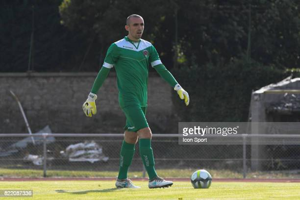 Paul Bernardoni during the friendly match between Montpellier Herault and Clermont foot on July 19 2017 in Millau France