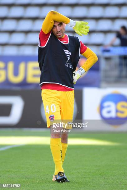 Paul Bernardoni of Clermont during the French League Cup match between Paris FC and Clermont Foot at Stade Charlety on August 22 2017 in Paris France
