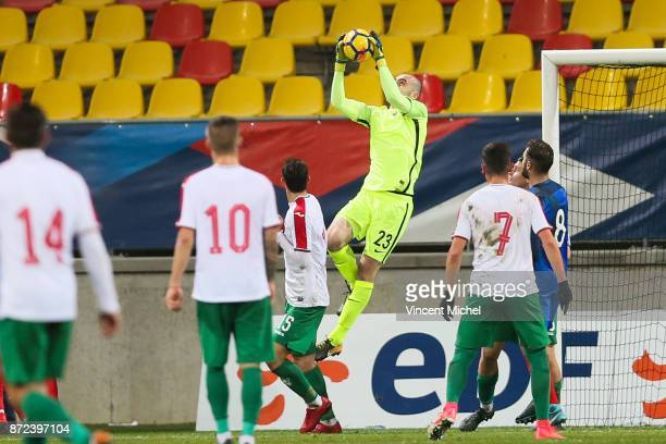 Paul Bernardoni of France during the Under 21s Euro 2019 qualifying match between France U21 and Bulgaria U21 on November 9 2017 in Le Mans France