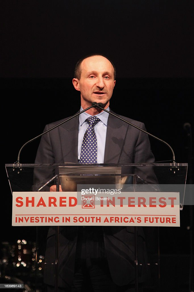 Paul Bernstein speaks onstage at the Shared Interest 19th Annual Awards Gala on March 18, 2013 in New York City.
