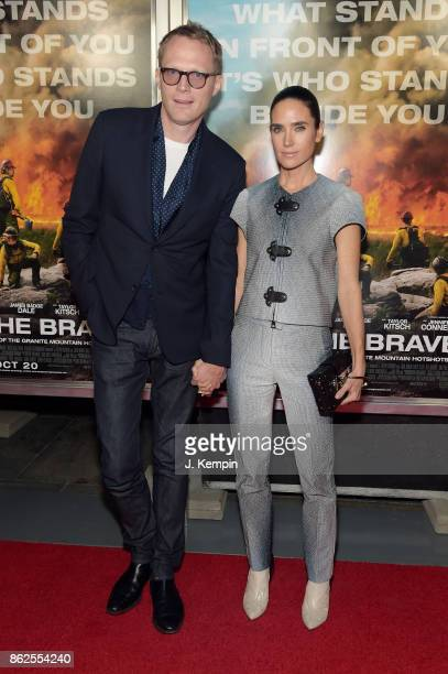 Paul Bettany and Jennifer Connelly attend 'Only The Brave' screening at iPic Theater on October 17 2017 in New York City