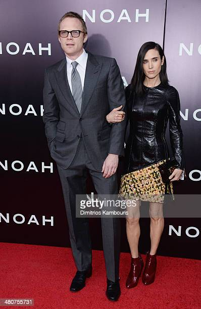 Paul Bettany and Jennifer Connelly attend the 'Noah' New York premiere at Ziegfeld Theatre on March 26 2014 in New York City