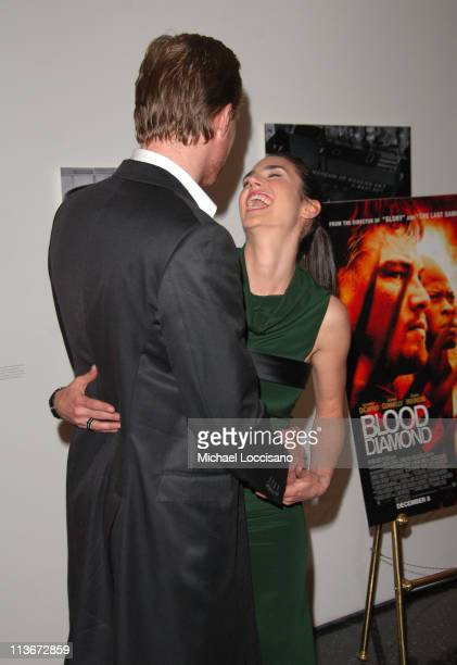 Paul Bettany and Jennifer Connelly during 'Blood Diamond' New York City Screening November 30 2006 at MoMa in New York City New York United States