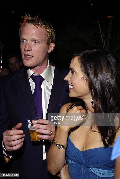 Paul Bettany and Jennifer Connelly during 'Wimbledon' World Premiere After Party at Samuel Goldwyn Theater in Beverly Hills California United States