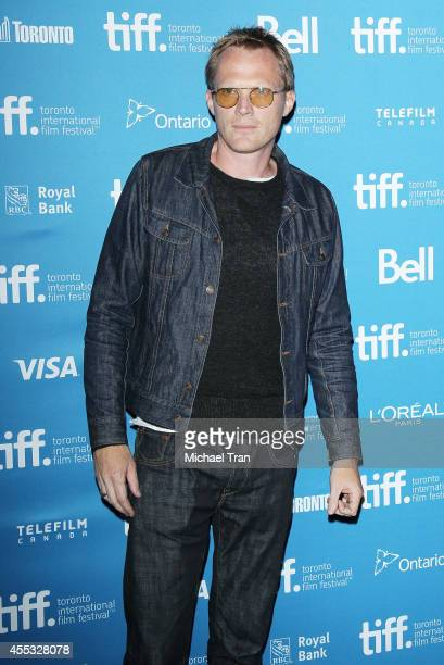 Paul Bettany arrives at the photocall of Shelter held during the 2014 Toronto International Film Festival Day 9 on September 12 2014 in Toronto Canada