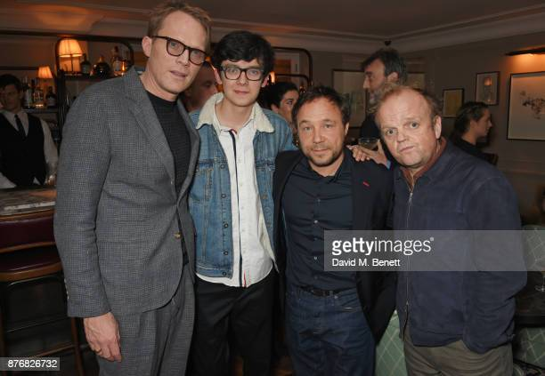 Paul Bettany Asa Butterfield Stephen Graham and Toby Jones attend a private dinner celebrating the special screening of 'Journey's End' at Kettner's...