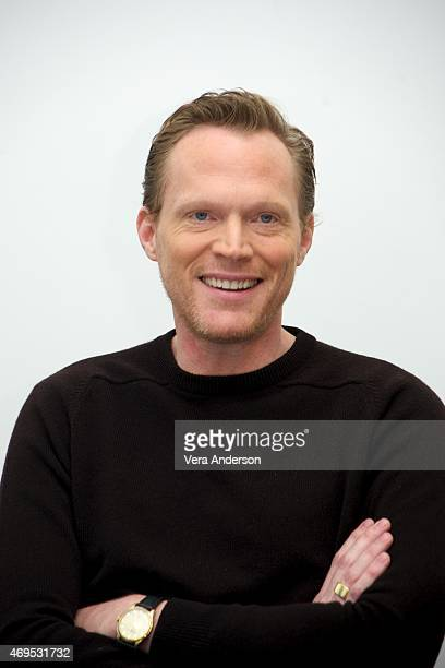 Paul Bettany at the 'Avengers Age of Ultron' Press Conference at Walt Disney Studios on April 11 2015 in Burbank California
