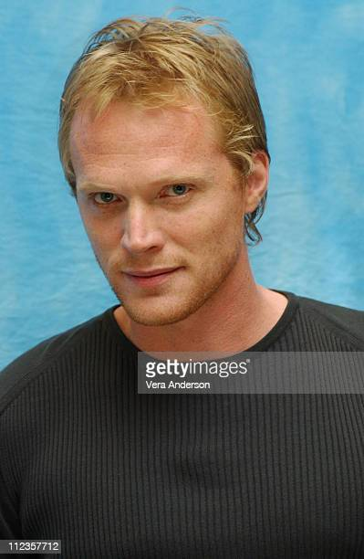 Paul Bettany during 'Wimbledon' Press Conference with Kirsten Dunst and Paul Bettany at Four Seasons Hotel in Beverly Hills California United States