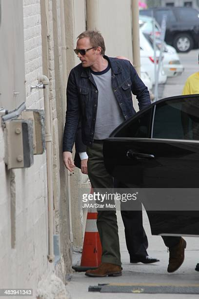 Paul Bettany is seen on April 10 2014 arriving at 'Danciing with the Stars' in Los Angeles California
