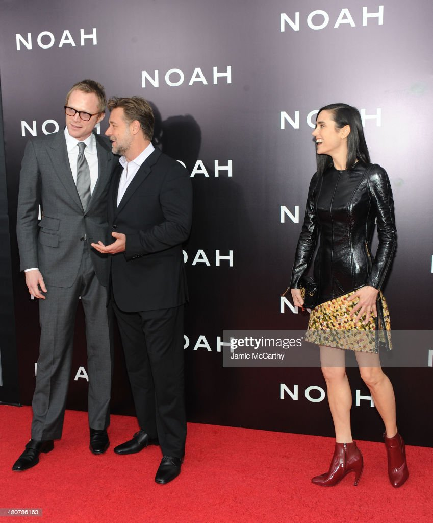 <a gi-track='captionPersonalityLinkClicked' href=/galleries/search?phrase=Paul+Bettany&family=editorial&specificpeople=202591 ng-click='$event.stopPropagation()'>Paul Bettany</a>, <a gi-track='captionPersonalityLinkClicked' href=/galleries/search?phrase=Russell+Crowe&family=editorial&specificpeople=202609 ng-click='$event.stopPropagation()'>Russell Crowe</a> and <a gi-track='captionPersonalityLinkClicked' href=/galleries/search?phrase=Jennifer+Connelly&family=editorial&specificpeople=201581 ng-click='$event.stopPropagation()'>Jennifer Connelly</a> attend the 'Noah' New York premiere at Ziegfeld Theatre on March 26, 2014 in New York City.