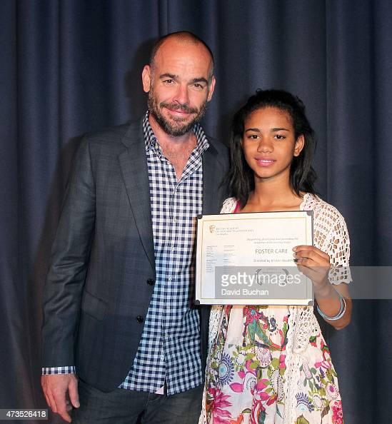 Paul Blackthorne and Kristen Wealth attend BAFTA LA's Washington Prep High School Film Festival at George Washington Preparatory High School on May...