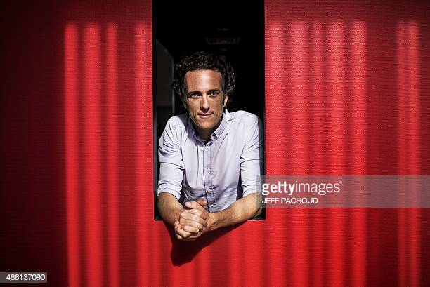 GARLAN Paul Bocuse Group Operations and Development Manager PierreYves Bertrand poses on August 28 2015 in West Express restaurant in Lyon Paul...