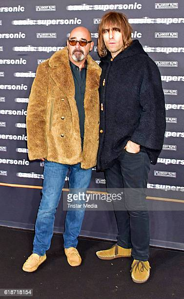 Paul Bonehead Arthurs and Liam Gallagher attend the 'Oasis Supersonic' German Premiere In Berlin on October 27 2016 in Berlin Germany