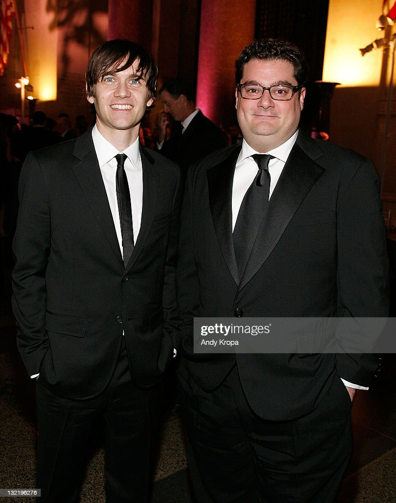 Paul Brittain and Bobby Moynihan attend the 2011 American Museum of Natural History gala at the American Museum of Natural History on November 10, 2011 in New York City.
