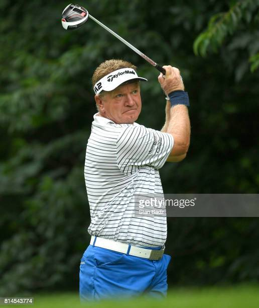 Paul Broadhurst hits a drive on the second hole during the second round of the PGA TOUR Champions Constellation SENIOR PLAYERS Championship at Caves...