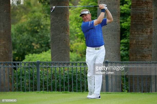 Paul Broadhurst of England hits his drive during the final round of the Charles Schwab Cup Championship held at Phoenix Country Club on November 12...