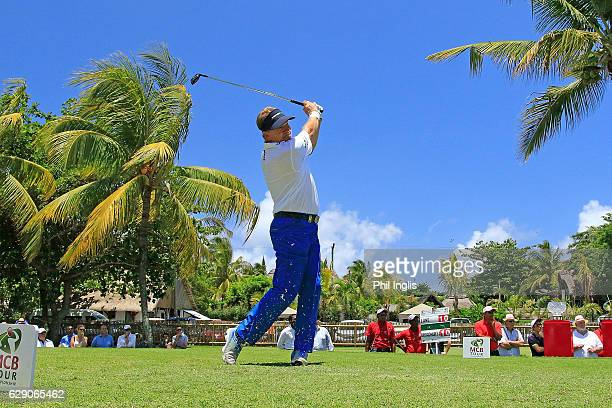 Paul Broadhurst of England in action during the final round of the MCB Tour Championship played on the Legend Course Belle Mare Plage on December 11...