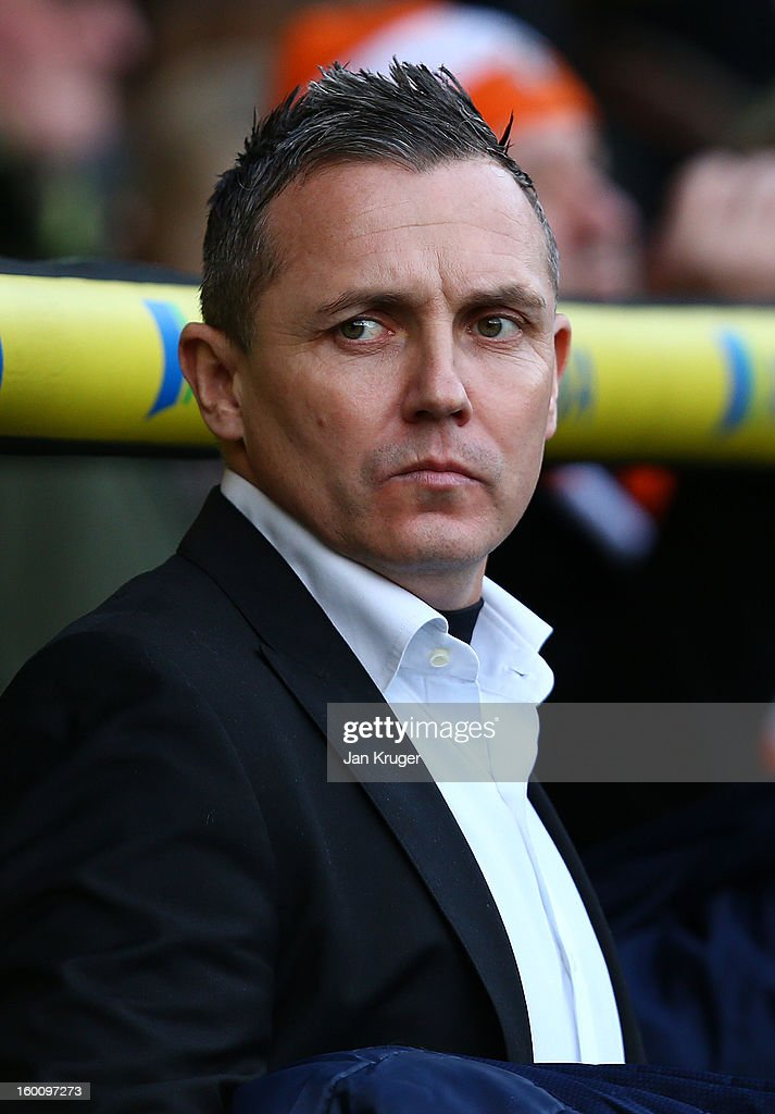 Paul Buckle, Manager of Luton Town looks on prior to kick off during the FA Cup with Budweiser fourth round match between Norwich City and Luton Town at Carrow Road on January 26, 2013 in Norwich, England.