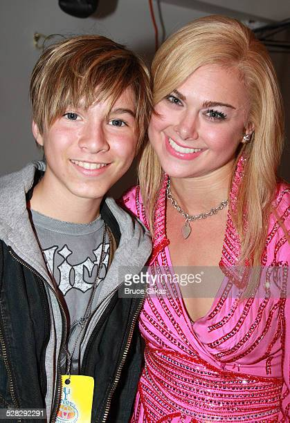 COVERAGE* Paul Butcher of Zoey 101 and Laura Bell Bundy pose backstage at The Hit Musical Legally Blonde on Broadway at The Palace Theater on May 17...