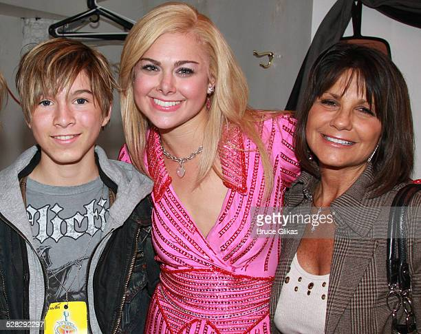 COVERAGE* Paul Butcher of Zoey 101 Laura Bell Bundy and Lynne Spears pose backstage at The Hit Musical Legally Blonde on Broadway at The Palace...
