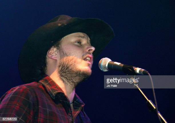 Paul Butler of The Bees performs at final date of UK tour promoting current album 'Free The Bee' at the Carling Academy Brixton on March 2 2005 in...