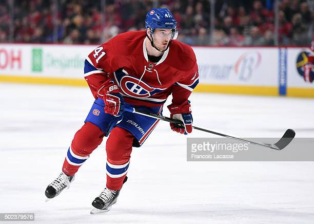 Paul Byron of the Montreal Canadiens skates against the Boston Bruins in the NHL game at the Bell Centre on December 9 2015 in Montreal Quebec Canada