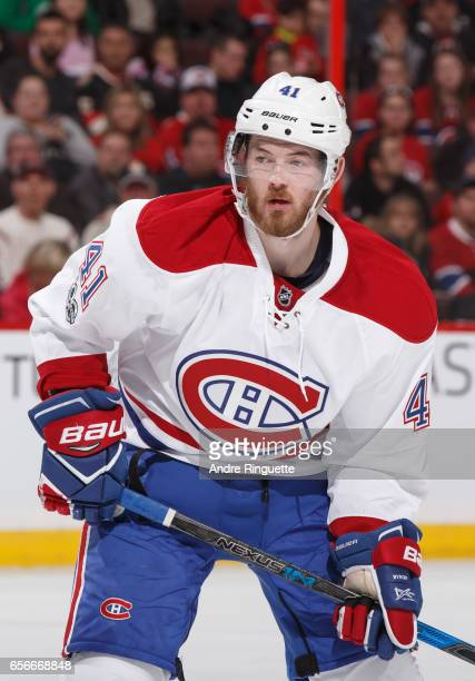 Paul Byron of the Montreal Canadiens skates against the Ottawa Senators at Canadian Tire Centre on March 18 2017 in Ottawa Ontario Canada