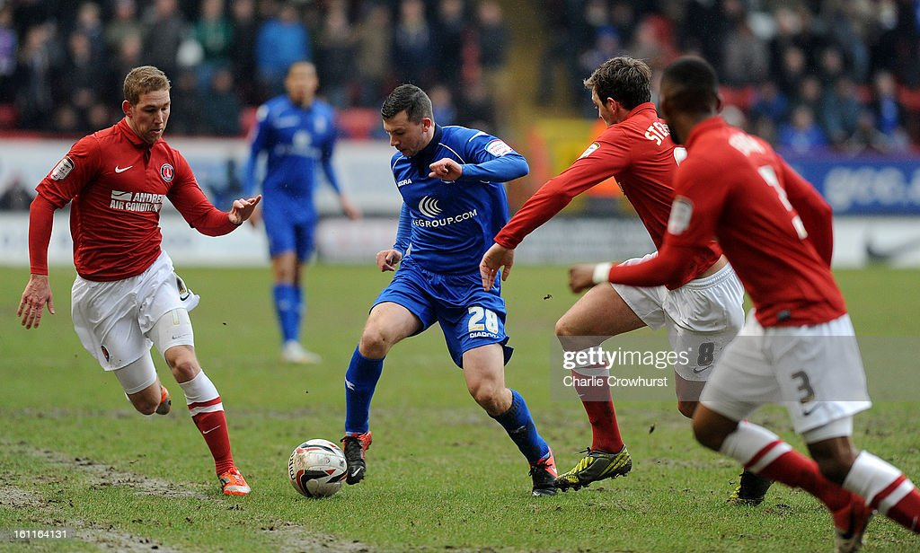 Paul Caddis of Birmingham attacks during the npower Championship match between Charlton Athletic and Birmingham City at The Valley on February 09, 2013 in London England.