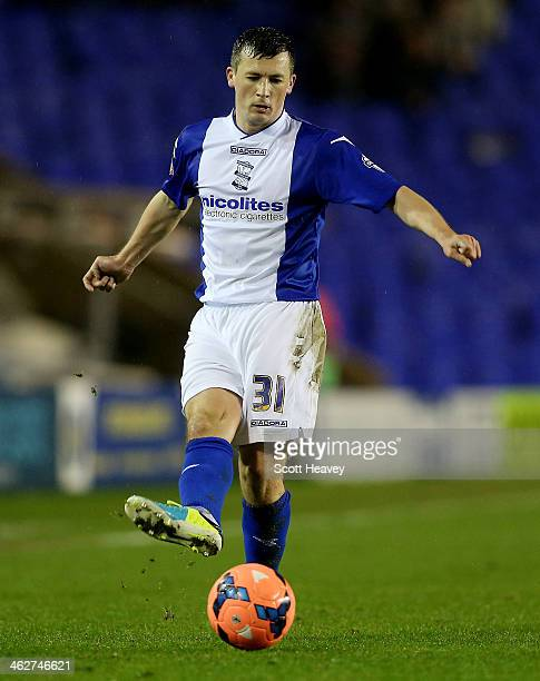 Paul Caddis of Birmingham during the FA Cup Third Round match between Birmingham City and Bristol Rovers at St Andrews on January 14 2014 in...
