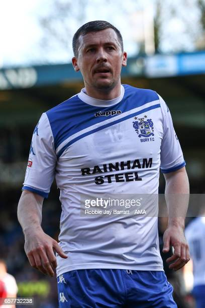 Paul Caddis of Bury during the Sky Bet League One match between Bury and Fleetwood Town at Gigg Lane on March 25 2017 in Bury England