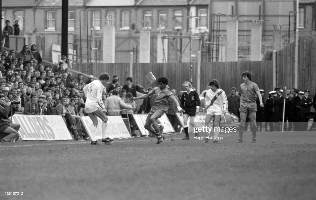 Paul Canoville of Chelsea in action during the Division 2 match between Crystal Palace and Chelsea at Selhurst Park on April 12,1982 in London,England. Chelsea won the match 1-0.