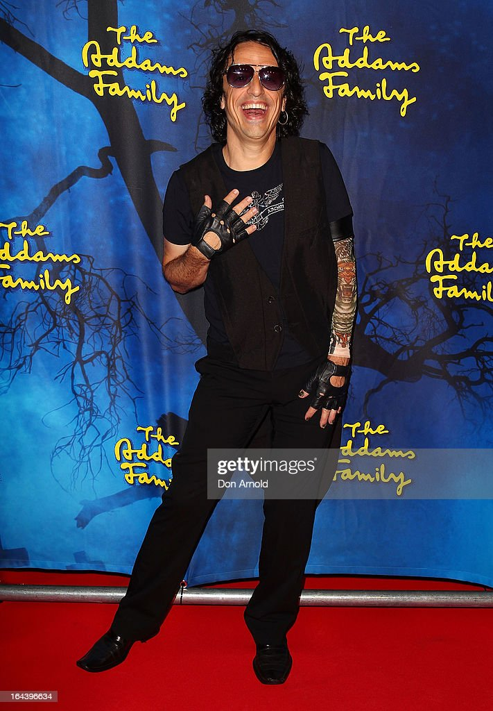 Paul Capsis arrives for 'The Addams Family' Musical Premiere at the Capitol Theatre on March 23, 2013 in Sydney, Australia.