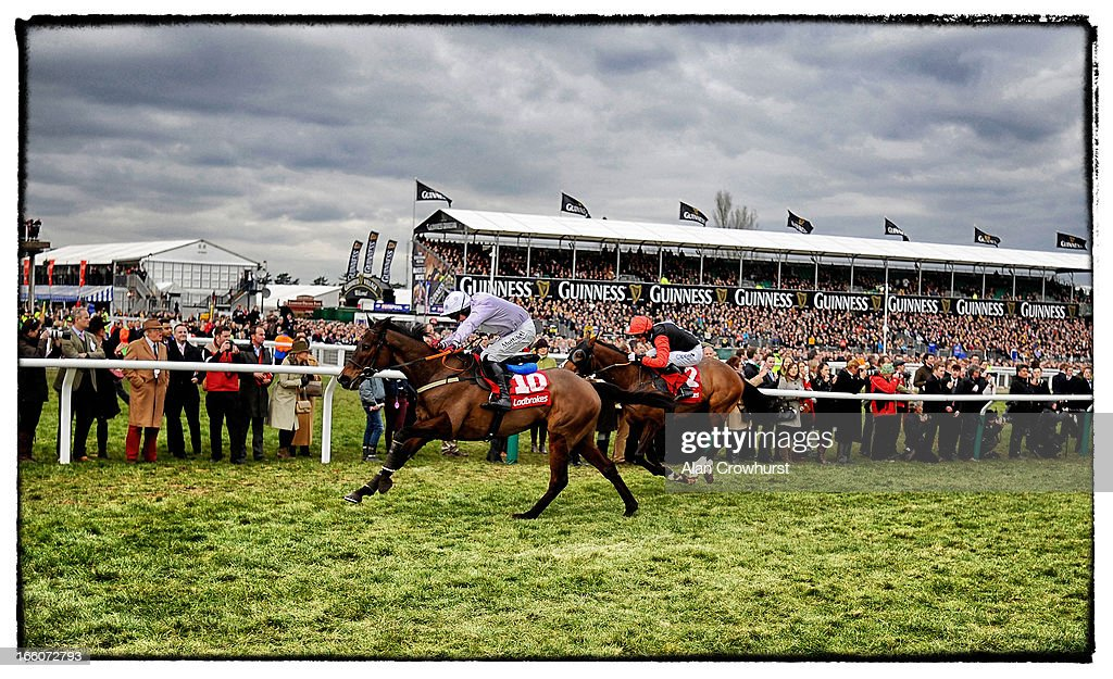 <a gi-track='captionPersonalityLinkClicked' href=/galleries/search?phrase=Paul+Carberry&family=editorial&specificpeople=171766 ng-click='$event.stopPropagation()'>Paul Carberry</a> riding Solwhit (L) clear the last to win The Ladbrokes World Hurdle Race from Celestial Halo (R) during St Patrick's Thursday at Cheltenham racecourse on March 14, 2013 in Cheltenham, England.