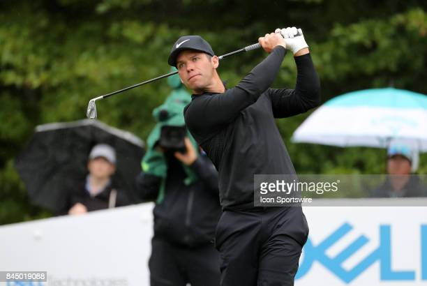 Paul Casey of England during the third round of the Dell Technologies Championship on September 3 at TPC Boston in Norton Massachusetts