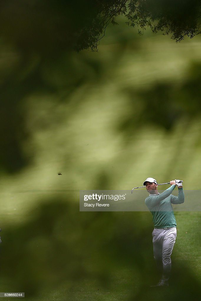 <a gi-track='captionPersonalityLinkClicked' href=/galleries/search?phrase=Paul+Casey&family=editorial&specificpeople=198895 ng-click='$event.stopPropagation()'>Paul Casey</a> of England hits his approach shot on the 12th hole during the second round of the Wells Fargo Championship at Quail Hollow Club on May 6, 2016 in Charlotte, North Carolina.