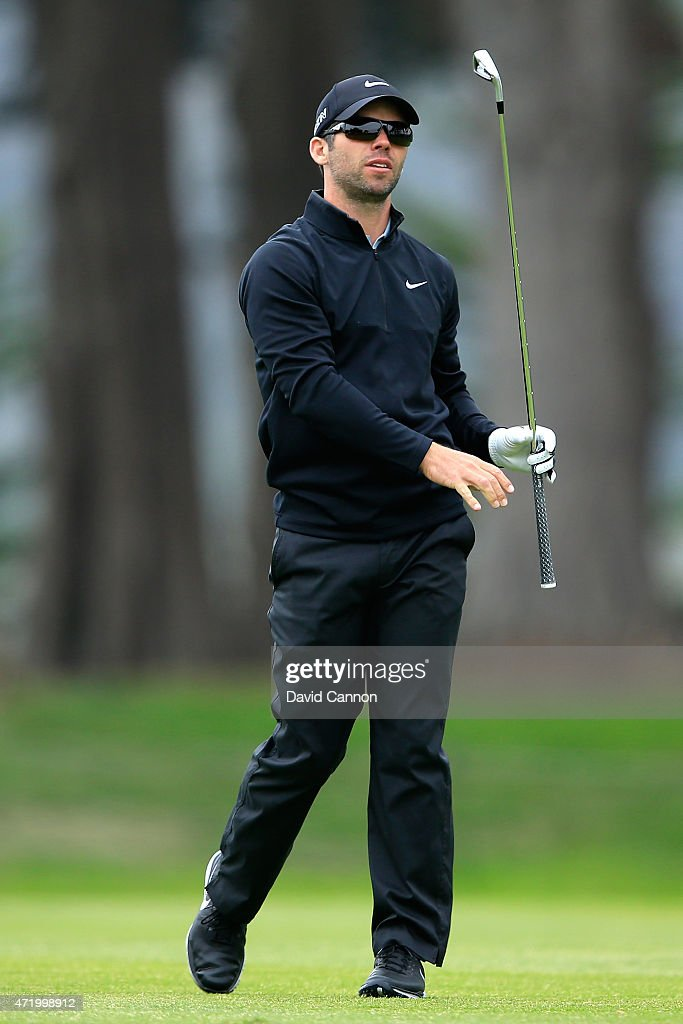 <a gi-track='captionPersonalityLinkClicked' href=/galleries/search?phrase=Paul+Casey&family=editorial&specificpeople=198895 ng-click='$event.stopPropagation()'>Paul Casey</a> of England hits his second shot on the first hole during his quarter final match against Rory McIlroy of Northern Ireland in the World Golf Championships Cadillac Match Play at TPC Harding Park on May 2, 2015 in San Francisco, California.