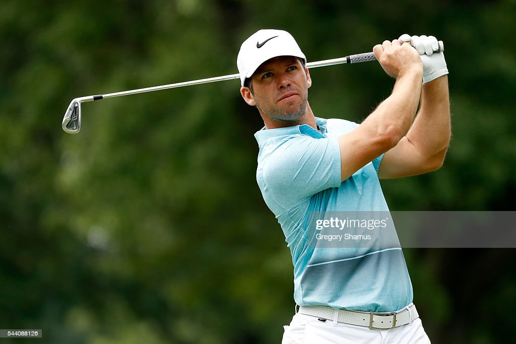 Paul Casey of England hits off the third tee during the second round of the World Golf Championships - Bridgestone Invitational at Firestone Country Club South Course on July 1, 2016 in Akron, Ohio.