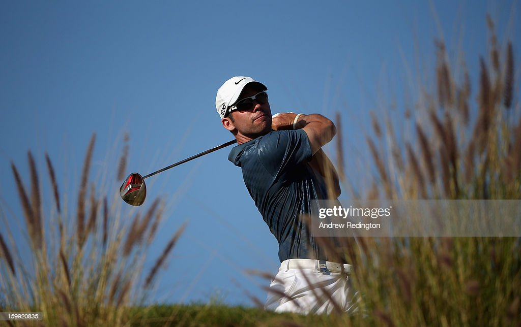 Paul Casey of England in action during the first round of the Commercial Bank Qatar Masters held at Doha Golf Club on January 23, 2013 in Doha, Qatar.