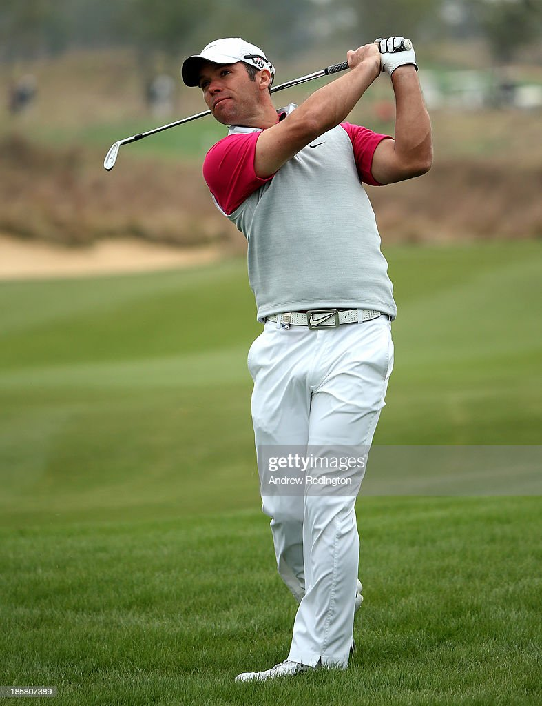 Paul Casey of England in action during the second round of the BMW Masters at Lake Malaren Golf Club on October 25, 2013 in Shanghai, China.
