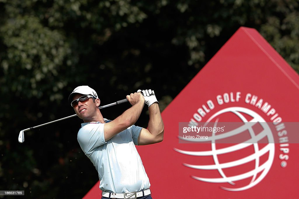 Paul Casey of England plays a shot during the second round of the WGC - HSBC Champions at the Sheshan International Golf Club on November 1, 2013 in Shanghai, China.