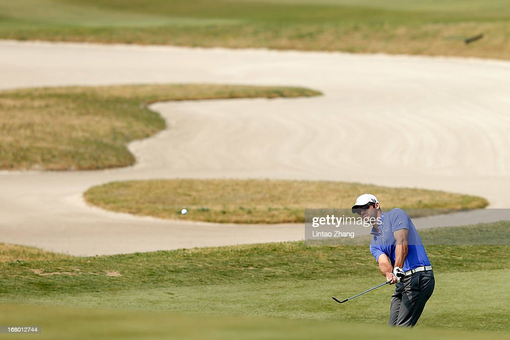 Paul Casey of England plays a shot during the third day of the Volvo China Open at Binhai Lake Golf Course on May 4, 2013 in Tianjin, China.