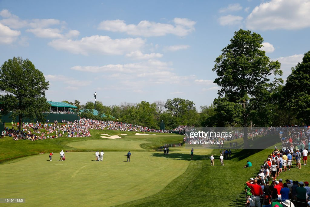 <a gi-track='captionPersonalityLinkClicked' href=/galleries/search?phrase=Paul+Casey&family=editorial&specificpeople=198895 ng-click='$event.stopPropagation()'>Paul Casey</a> of England plays a shot on the 14th hole during the third round of the Memorial Tournament presented by Nationwide Insurance at Muirfield Village Golf Club on May 31, 2014 in Dublin, Ohio.