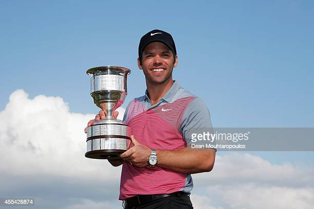 Paul Casey of England poses with the trophy after winning the KLM Open held at De Kennemer Golf and Country Club on September 14 2014 in Zandvoort...