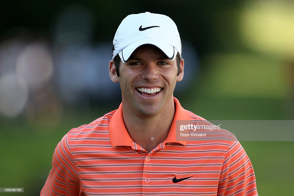 <a gi-track='captionPersonalityLinkClicked' href=/galleries/search?phrase=Paul+Casey&family=editorial&specificpeople=198895 ng-click='$event.stopPropagation()'>Paul Casey</a> of England smiles on the 18th hole during the third round of the BMW PGA Championship on the West Course at Wentworth on May 22, 2010 in Virginia Water, England.
