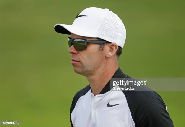 Paul Casey of England walks across the 11th hole during the second round of the 2017 US Open at Erin Hills on June 16 2017 in Hartford Wisconsin