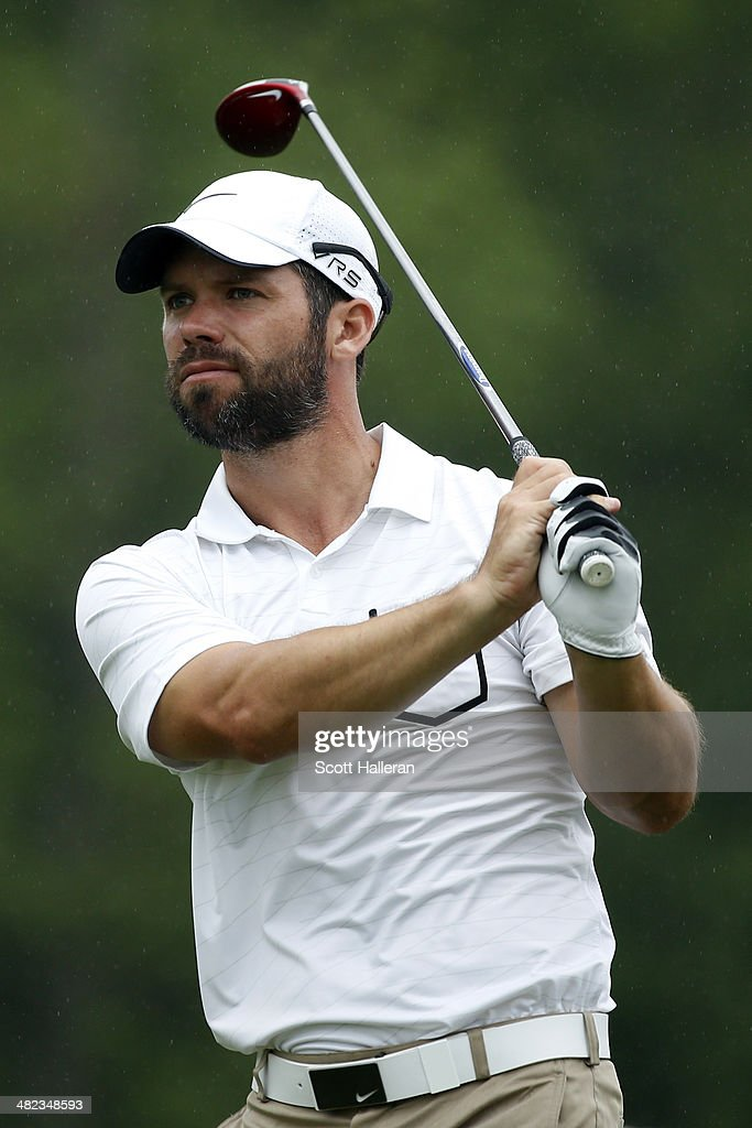 Paul Casey of England watches his tee shot on the third hole during round one of the Shell Houston Open at the Golf Club of Houston on April 3, 2014 in Humble, Texas.