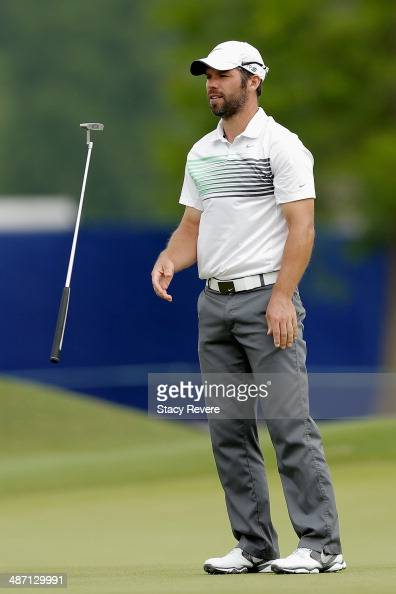 Paul Casey tosses his club on the 14th during the Final Round of the Zurich Classic of New Orleans at TPC Louisiana on April 27 2014 in Avondale...