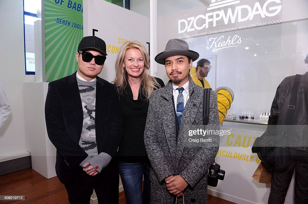 Paul Chin, Kiehl's General Manager Worldwide Cheryl Vitali and enny Balmaceda attend Kiehl's Zoolander Center Opening on February 9, 2016 in New York City.